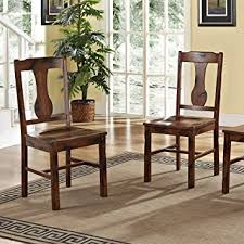Dining Chairs Wood Solid Wood Oak Dining Chairs Set Of 2 Chairs