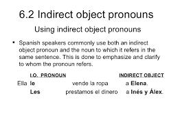6 2 indirect object pronouns