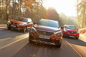 nissan qashqai vs peugeot 3008 best crossover cars and small suvs on sale 2017 auto express