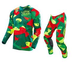 camo motocross jersey troy lee designs new 2016 tld mx se air cosmic camo green