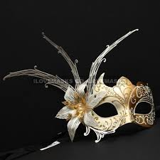 masquerade party masks new shiny side flower venetian masquerade party mask gold white