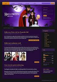 27 best halloween web templates images on pinterest templates