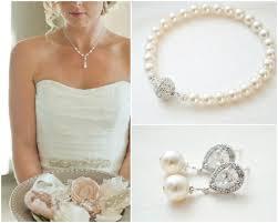 wedding jewelry bracelet crystal images Bridal jewellery set crystal pearl wedding jewellery set jpg