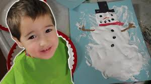 how to make puffy paint snowman crafts for kids 6 youtube