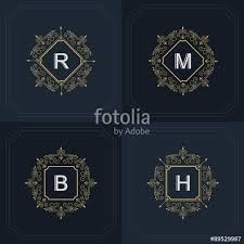 Free Military Business Cards Monogram Design Elements Graceful Template Calligraphic Elegant