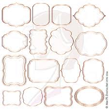 wedding scrapbook supplies gold digital frames border clipart label tag wedding supplies