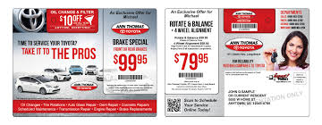 toyota auto dealership automotive direct mail tire marketing impact mailers