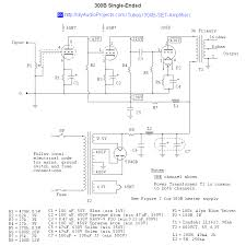 300b single ended triode set lifier schematic circuitos