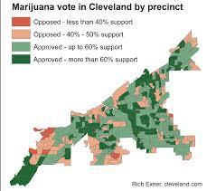 Marijuana Legalization Map Cleveland Says Yes To Issue 3 Marijuana Legalization Proposal