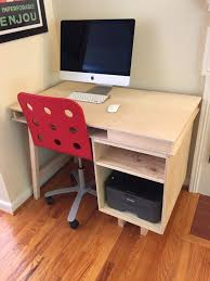 Unfinished Computer Armoire by Ana White Computer Desk Diy Projects