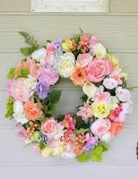 wedding wreaths pastel wedding wreath wreath summer wreath front door