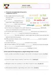 english teaching worksheets linking words