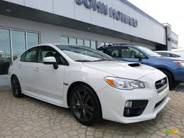 subaru white car 2016 crystal white pearl subaru wrx premium 107460797 gtcarlot