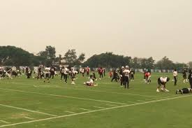Wildfire Smoke Seattle by California Wildfires Cut Practice Short For The Raiders On