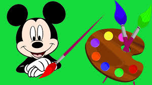 learn colors drawing mickey mouse colours kids toddlers baby