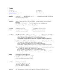 Resume Employment History Sample by Name Of Resume Examples Design Templates Invitation Templates