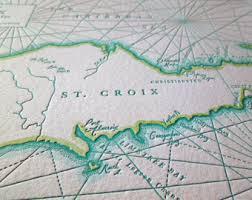 map st croix st croix map etsy