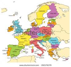 european russia map cities vector illustration europe union map countries stock vector