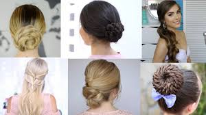 6 easy prom hairstyles youtube