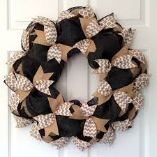ribbon wreath burlap black ribbon wreath maison blanche decor