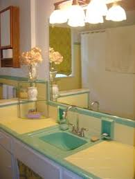 how to redo a bathroom sink cool 50 s bathroom sinks i love this idea not getting into each