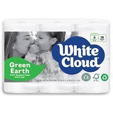 White Cloud Bathroom Tissue - white cloud greenearth bath tissue