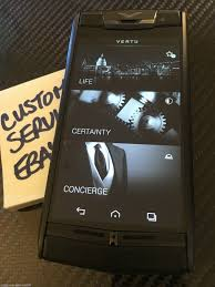 vertu phone touch screen genuine vertu signature touch pure jet calf leather luxury phone
