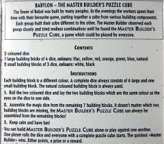 babylon the master builder u0027s puzzle cube pappp u0027s rambling