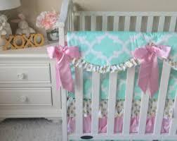 mint crib bedding etsy