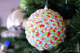 upcycled fabric ornaments simply notable