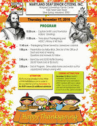 history about thanksgiving 2016 u2013 maryland deaf senior citizens inc