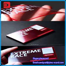 popular transparent business card thick buy cheap transparent