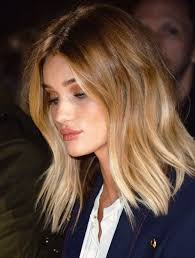 rosie huntington side parted lob image result for shoulder length balayage shoulder length hair