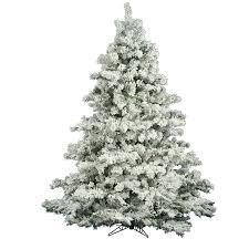 flocked alaskan 6 5 white pine artificial tree
