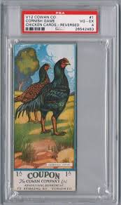 non sports 1920 cowan co chicken cards v12 reversed design