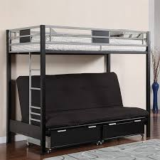 Futon Bed With Storage Mesmerizing Bunk Bed With Futon Underneath 84 About Remodel Small