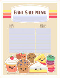 5 bake sale template outline templates