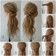 Hochsteckfrisuren Einfach Lange Haare by Die Besten 25 Halbe Locken Ideen Auf Die Halben Haare