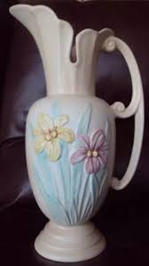 Hull Pottery Vase Hull Pottery Bow Knot Tall Vase B 10 10 1 2 From Just Art Pottery