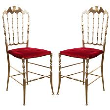 chaivari chairs polished brass chiavari chairs with velvet italy for sale at