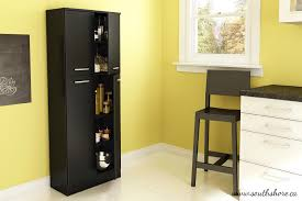 kitchen food pantry cabinet south shore fiesta storage pantry in pure black