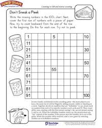 don u0027t sneak a peek view u2013 math worksheet on counting and reverse