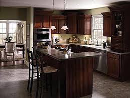 kitchen with l shaped island l shaped kitchen island ideas from aristokraft cabinetry