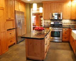 Knotty Pine Kitchen Cabinet Doors by Knotty Pine Kitchen With Apron Sink Granite Counter Tops Tile
