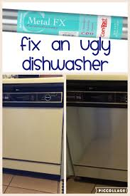 decorating rental homes fix an ugly dishwasher for less than 10 with contact paper great