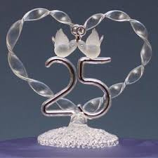 25th anniversary cake toppers anniversary wedding cake topper