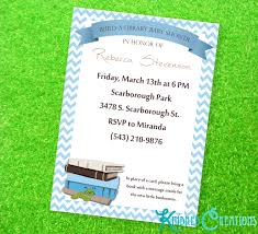 Library Card Invitation Build A Library Baby Boy Shower Invitation Kindred Creations