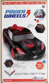 power wheels 6v corvette ride on black walmart com