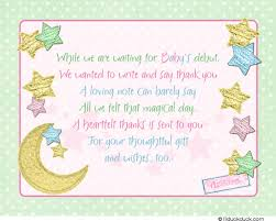 baby shower gift card poem twinkle baby shower thank you card