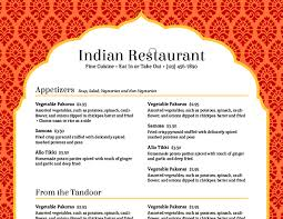indian menu template imenupro cmyung